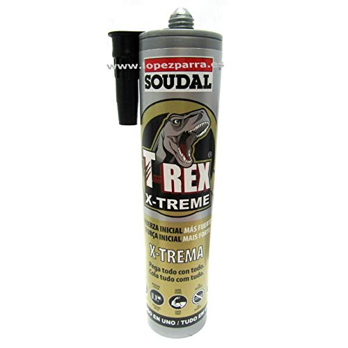 Soudal T Rex Adhesivo Sellador X-Trema Todo en Uno Color Blanco 290ml.