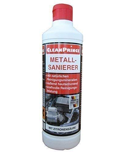 CleanPrince 500 ml METALLSANIERER Metall-Sanierer Metalle Metall Metallreiniger Reiniger Reinigungsmittel, Fettverschmutzungen, Kalk- und Wasserflecken sowie Ablagerung, Grünspan etc., speziell für Spülbecken, Edelstahltöpfe, Silberbesteck und den Kf