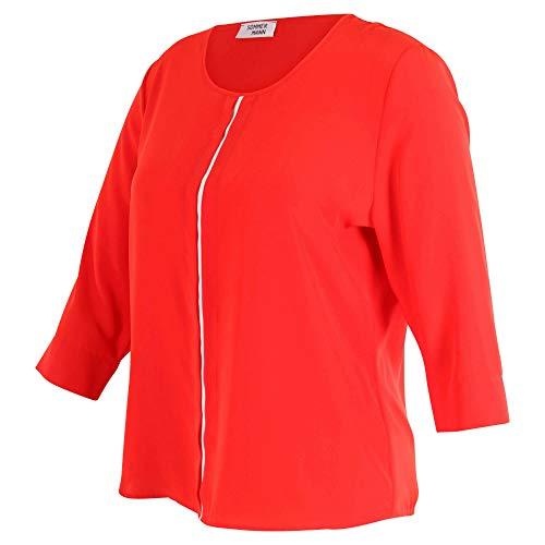 Zomerman - rode blouse Selina met 3/4 arm