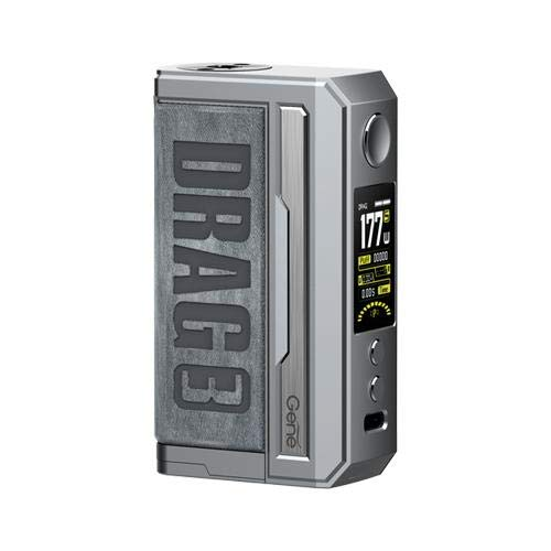 The VooPoo Drag 3 Mod is suited to both intermediate and advanced vapers and is powered by dual 18650 batteries. Please note, these batteries are not included. It is a powerful sub-ohm device which can reach a maximum output of 177W. The VooPoo Drag ...