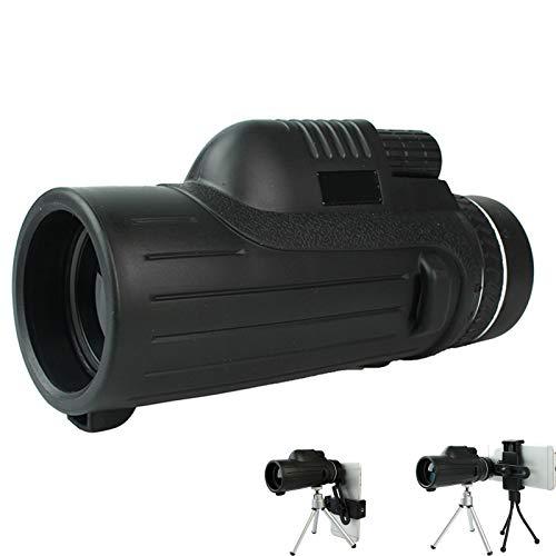 YUIOLIL Telescopio monocular 40 x 60 telescopio óptico de alta potencia, conectado al teléfono móvil BAK4 Prism, adecuado para observación de aves, conciertos y senderismo