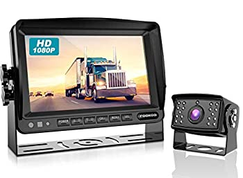 Fookoo Ⅱ HD Wired Backup Camera System Kit 7 inch 1080P Reversing Monitor IP69 Waterproof Rear View Camera Sharp CCD Chip Truck/Trailer/RV  FHD1
