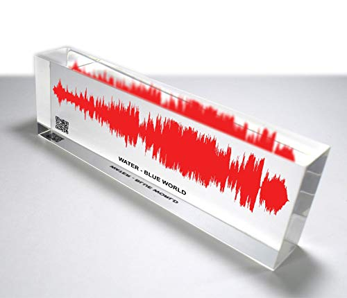 OOCLAS Sound Wave Gift, Custom Soundwave, Acrylic Sound Wave Art, Customize Any Personalized Recording or Song On Acrylic Block Size (12 X 3 x 1.25 Inches)