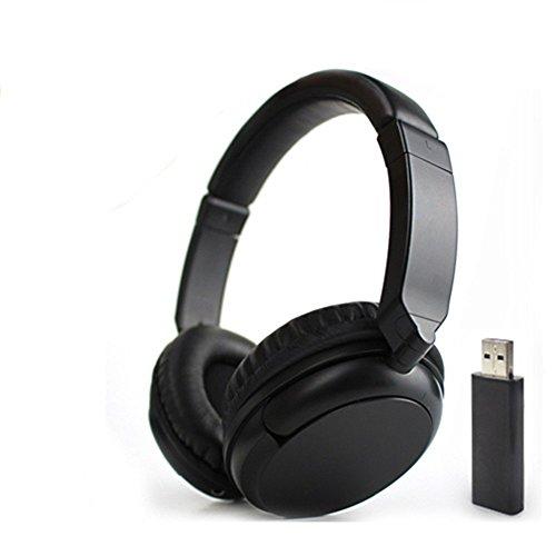 Deerbird Confortevole Hi-fi Stereo Oltre l'orecchio Audio senza fili FM 3.5mm multifunzione Cuffie TV Auricolare con 2.4GHz Adattatore il trasmettitore e RCA