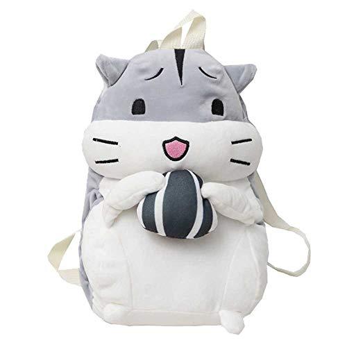 Fashion Studenten Schulrucksack,Women Cute Backpack Fluffy Hamster Bag Student Mode Vielseitig Winter Hand Warmer Bag