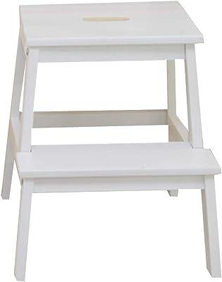 QQXX Escalera Taburete Madera Maciza Conjunto de hogar Multifunción Práctica Simple Moda, Escalera de 2 peldaños (Color: Blanco): Amazon.es: Hogar