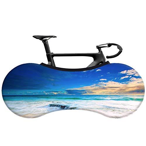 FangXiao Cubierta de Rueda de Bicicleta, Bolsa de Almacenamiento de Bicicleta Interior Antipolvo, Paquete de neumáticos de Equipo Protector a Prueba de arañazos de Bicicleta elástica lavabl