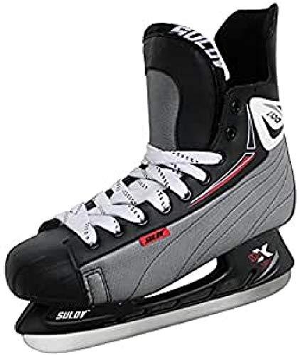 SULOV - Patines para Hielo, para Hockey sobre Hielo, de Hombre, Color Negro, tamaño 43