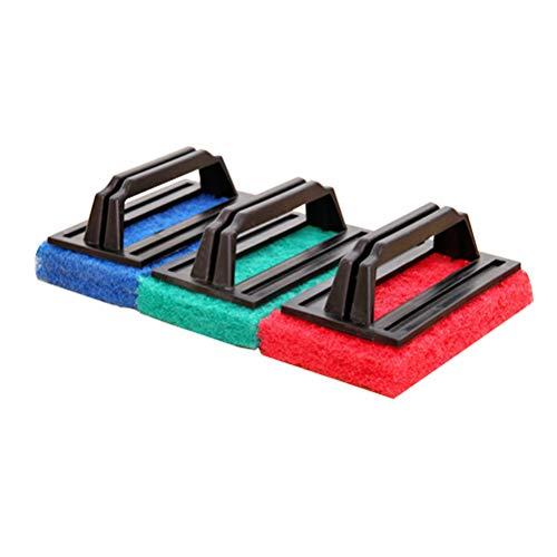 Yardwe Cepillos de Limpieza de Esponja de 3 Piezas manejan cepillos de Esponja cepillos de Limpieza con asa para baño de Cocina Piscina (Color Aleatorio)