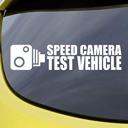 Speed Camera Test Voertuig - Auto Decal, Vinyl Sticker, Raam, Bumper, Grappig, Geschenk, Voorruit, Voorruit, Slogan, Tuning, Racing, Grap gemakkelijk aan te brengen en verwijderd