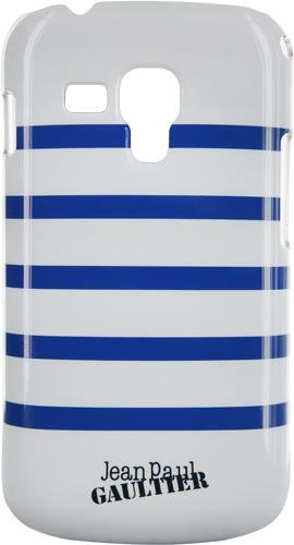 Jean Paul Gaultier beschermhoes voor Samsung Galaxy Trend S7560, matrozenmotief, wit/blauw gestreept