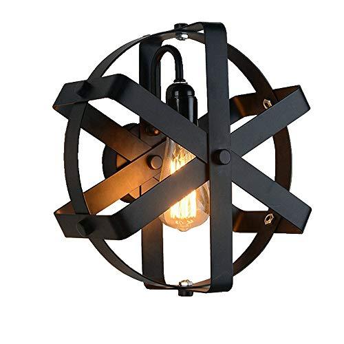 Tanktoyd Pared de cristal Luz Pantalla interior de la pared de la lámpara de la rueda retro industrial lámpara de pared granja pared interior del pórtico del aplique de iluminación para el dormitorio