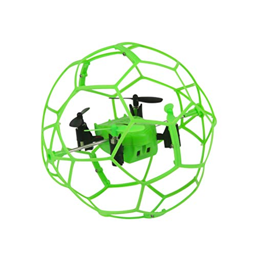 Mallalah Mini Drone Flip RC Bola Sky Walker 2,4 GHz 4CH Bola de la Mosca RC Quadcopter 3D Flip Roller Headless Drone RC Juguetes del helicóptero (Verde)
