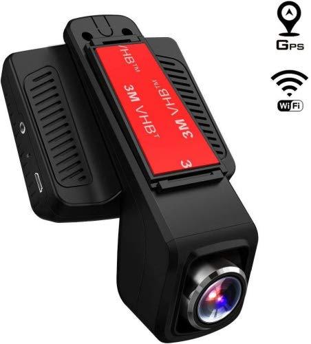 TOGUARD Caméra de Voiture GPS WiFi Grand Angle de 170° Caméra Embarquée Full HD 1080P, Dashcam...