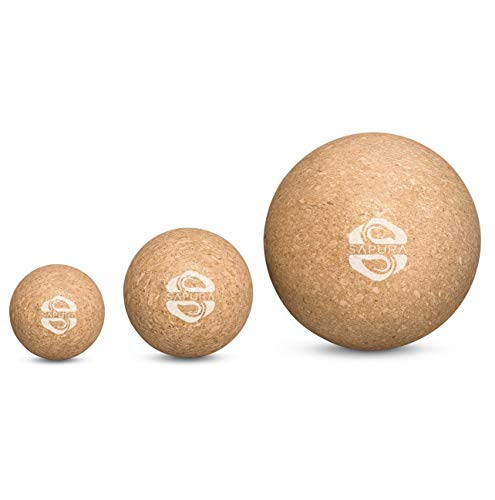 Faszienball Set aus Kork ✓ 3 Massagebälle 5cm | 7cm | 12cm ✓ Lacrosse