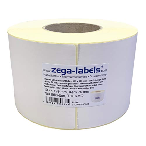 40 mm Kern 1000 Thermoetiketten 100 x 100 mm Thermo Eco Papier permanent