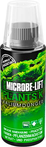 MICROBE-LIFT Plants K - Pflanzendünger - (Qualitäts-Kaliumdünger für alle Arten Wasserpflanzen in jedem Süßwasser Aquarium, sorgt für einen üppigen Pflanzenwuchs und beugt einem Kaliummangel Ihrer Wasserpflanzen nachhaltig vor, Wasseraufbereiter, ausreichend für 2.300 Liter) 118 ml