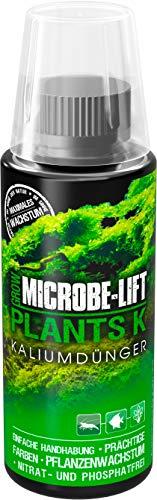 MICROBE-LIFT Plants K – Fertilizzante Liquido per Piante acquarie, Altamente concentrato, 118 ml