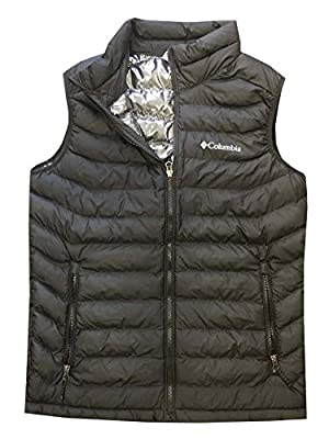 Columbia Mens White Out Omni-Heat Puffer Vest, Black, Medium from Columbia