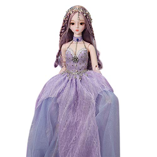 Fortune Days Original Design 60 cm Dolls(with Gift Box), Dream Fairy Series 26 Joints Doll, Best Gift for Girls (Violet)