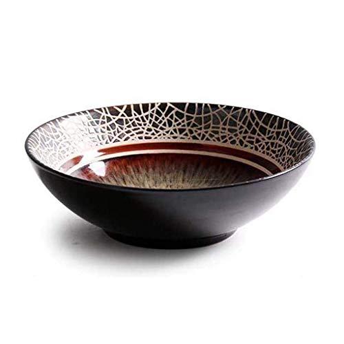 WEHOLY Cena Creativa Japonesa Retro Tazón de arroz Comida casera Tazón Sopa de cerámica Tazón Nondles Ensalada Tazón Restaurante Comedor Vajilla (Color: #Bowl)