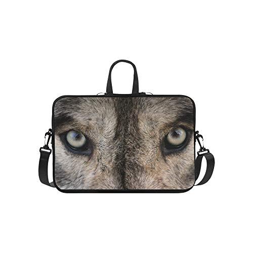 Gray Wolf Portrait Tier Muster Aktentasche Laptoptasche Messenger Schulter Arbeitstasche Crossbody Handtasche Für Geschäftsreisen