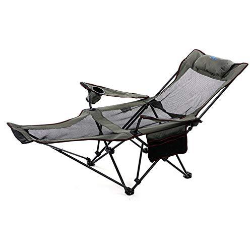 Apxzc klapstoel en campingstoel, inklapbaar voor rugzakken met geïntegreerde hoofdsteun en voetsteun, Oxford-weefsel, duurzaam en robuust, voor camping in de open lucht