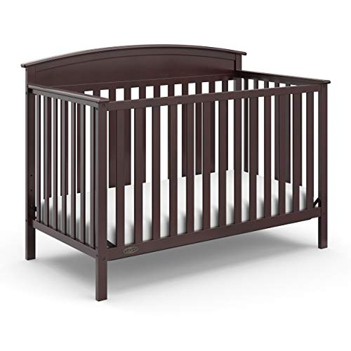 Stork Craft Graco Benton 4-in-1 Convertible Crib (Espresso) Solid Pine and Wood Product Construction, Converts to Toddler Bed, Day Bed, and Full Size Bed (Mattress Not Included)