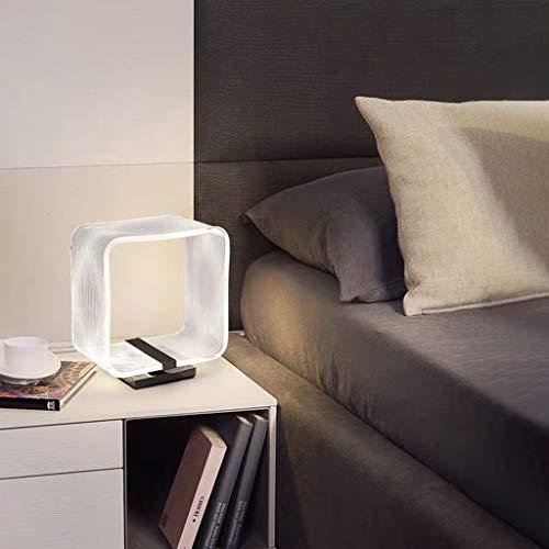 Lámpara de Mesa de Acrílico Transparente Estilo Nórdico Minimalista Moderno Lámpara de Escritorio de Decoración Del Hogar Lámparas de Mesa de Noche Creative Eye Caring (Size : 29CM/11.4IN)