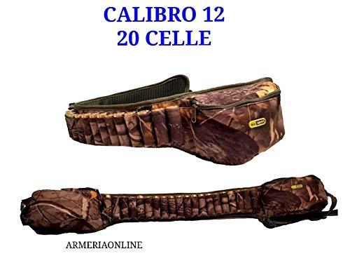 Ra sport Cartuccera Cintura Cal 12 da Caccia Nylon Cartucciera Regolabile 20 Celle