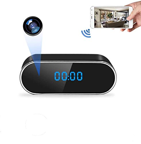 Hidden Spy Camera Clock 1080 HD Live Feed WiFi Mini Camera Wireless Nanny Cam with Night Vision and Motion Detection for Real Time Monitor Home and Baby Security
