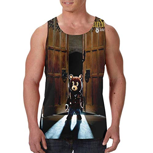 Kanye West Late Registration Tank Top Men's Summer Sleeveless tee Shirt Gym Fitness Vest