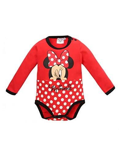 Minnie Body Manches Longues bébé Fille Rouge de 3 à 24mois - Rouge, 24 Mois