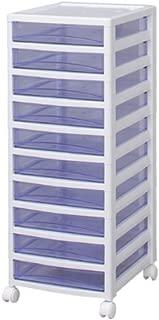 アイリスオーヤマ チェスト スーパークリア 10段 幅32×奥行39×高さ83.2cm ホワイト / クリアブルー 白 プラスチック SCE-S1000