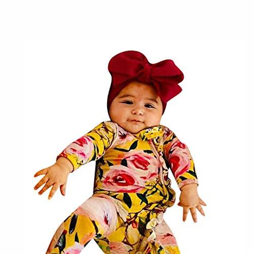 Janly Clearance Sale Mameluco para nias de 0 a 24 meses, para recin nacido, beb, nia, nio, con pies para dormir, diadema, para bebs de 3 a 6 meses, regalos de Pascua de San Patricio (amarillo)