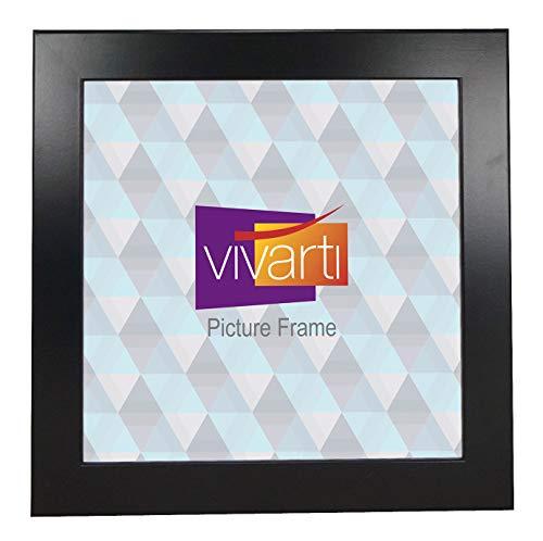Brede mat zwart kant en klare fotolijst, 50 x 50 cm,
