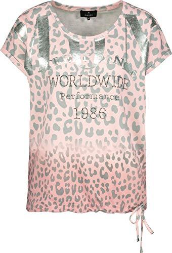 MONARI Damen T-Shirt mit Animal Print rosa/Silber Gemustert - 40