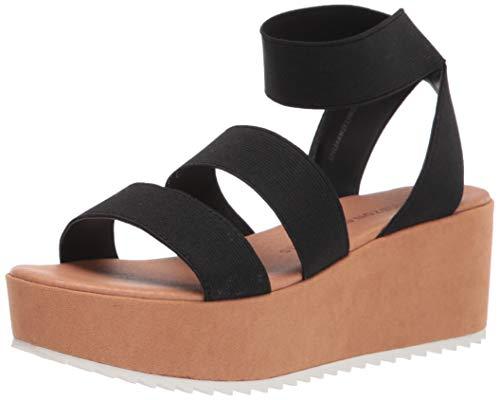 Amazon Essentials Women's Heeled Sandal, Black, 7 M US