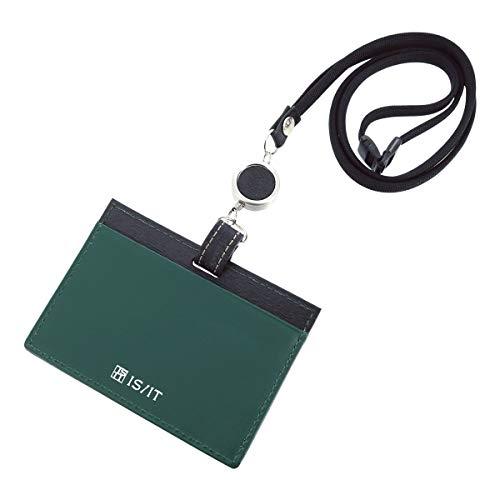 [イズイット] IDカードホルダー 本革 メンズ ペッパー 971601 IS/IT ISIT 牛革 レザー 【01】ブラック