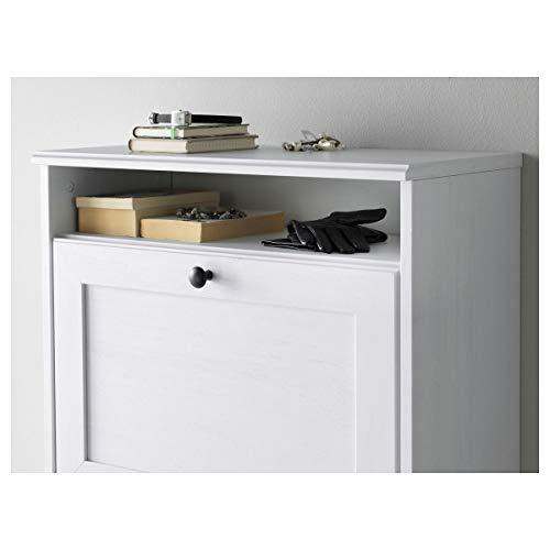 IKEA BRUSALI Zapatero con 3 compartimentos, color blanco