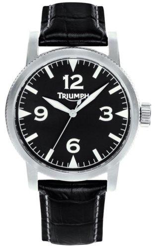 Triumph 3051-02 - Reloj de Caballero de Cuarzo, Correa de Piel Color Negro