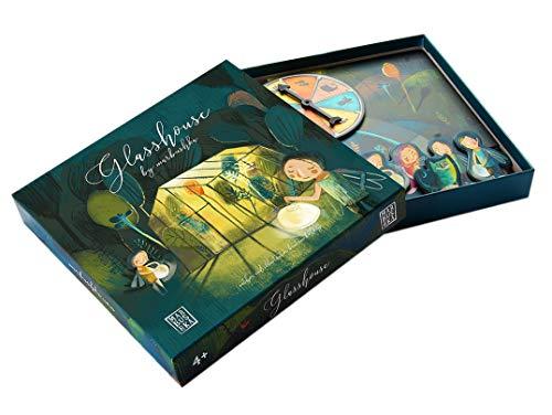 Marbushka Brettspiel - Kooperativ Gesellschaftsspiel für Kinder und Familien 2-4 spielers ab 4 Jahren [Gewächshaus] - ökologisch, nachaltig und fair-Trade aus natürlichen Materialien in Ungarn