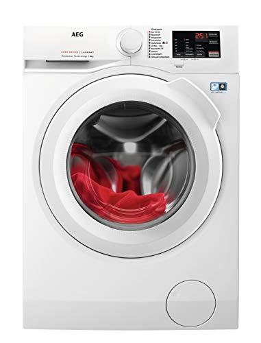 AEG L6FBA5680 Waschmaschine / 8,0 kg / Leise / Mengenautomatik / Nachlegefunktion / Kindersicherung / Wasserstopp / 1600 U/min