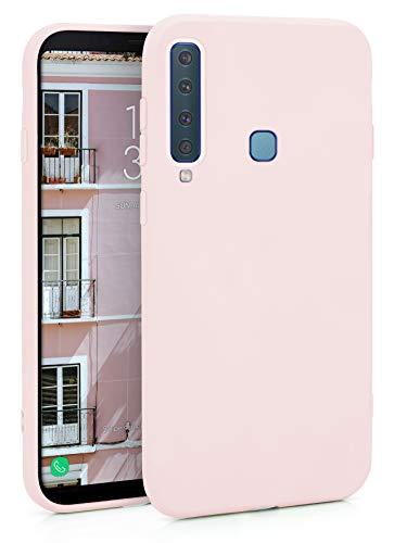 MyGadget Silikon Hülle für Samsung Galaxy A9 2018 - robuste Schutzhülle TPU Hülle Slim Silikonhülle Back Cover Ultra Kratzfest Handyhülle in Rosa