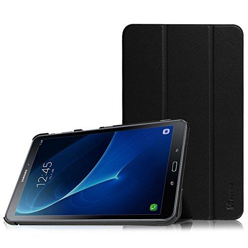 Fintie Hülle für Samsung Galaxy Tab A 10.1 2016 - Ultra Schlank Superleicht Ständer Schutzhülle mit Auto Schlaf/Wach Funktion für Samsung Galaxy Tab A 10,1 Zoll T580N / T585N, Schwarz