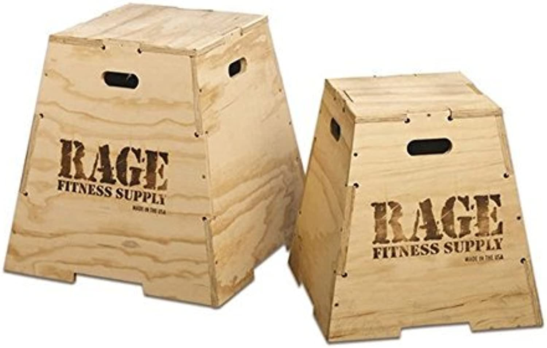 Rage Fitness Wood Puzzle Plyo Box, 20