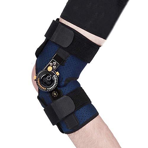 Sntsya Verstellbare Kniebandage - für Meniskus/Bänder/Sportverletzungen, orthopädische Knieorthese mit verstellbaren Gelenken für Männer und Frauen,S