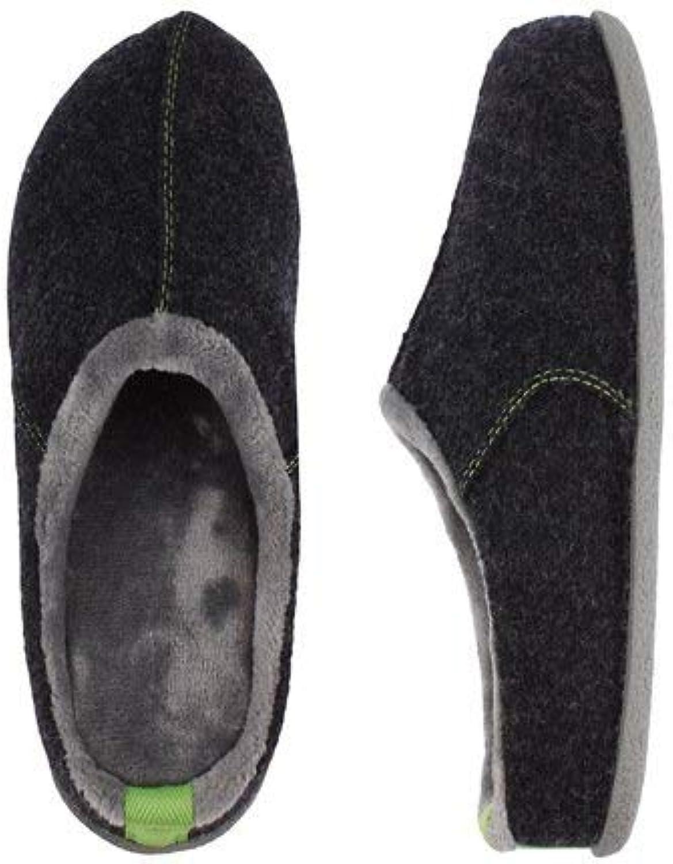 Trösta skor, herrarnas hem, hålla varma, behagliga glidare glidare glidare Mörka grå glidare, mjukt och tajt superkvalitet för mäner.  arenan