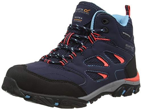 Regatta Unisex-Kinder Holcombe Iep Mid' Waterproof Eva Footbed Rubber Outsole Hiking Boots Walking-Schuh, Navy Fiercor, 44.5 EU
