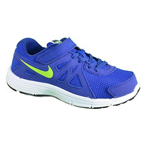 Nike Revolution 2 TDV - Zapatillas de deporte para niños, color azul, blanco, amarillo, color, talla 17 EU